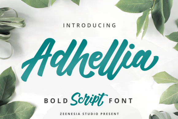 Print on Demand: Adhellia Script & Handwritten Font By zeenesia