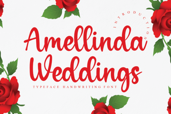 Print on Demand: Amellinda Weddings Script & Handwritten Font By andikastudio