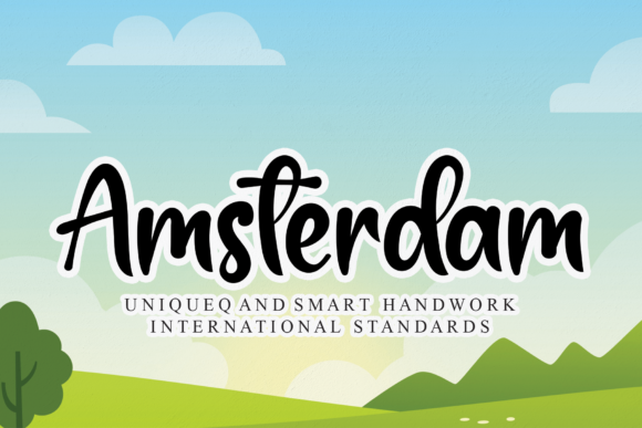 Print on Demand: Amsterdam Script & Handwritten Font By andikastudio