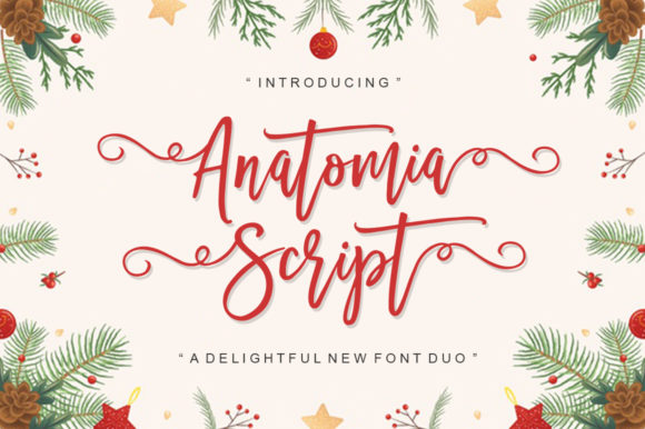 Print on Demand: Anatomia Script & Handwritten Font By scoothtype