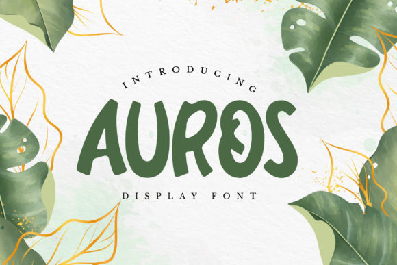 Print on Demand: Auros Display Font By qirocreative