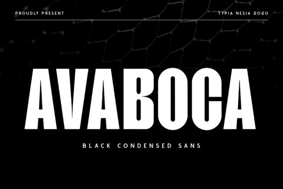 Print on Demand: Avaboca Sans Serif Font By Typia Nesia