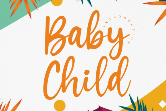 Print on Demand: Baby Child Script & Handwritten Font By andikastudio