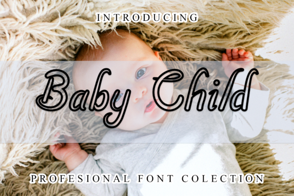 Print on Demand: Baby Child Display Font By giatstudios