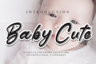 Print on Demand: Baby Cute Script & Handwritten Font By andikastudio