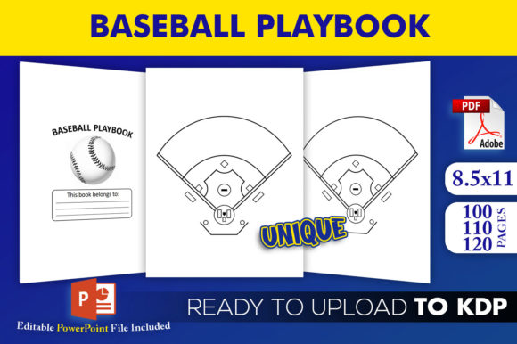 Baseball Playbook KDP Interior Template Graphic