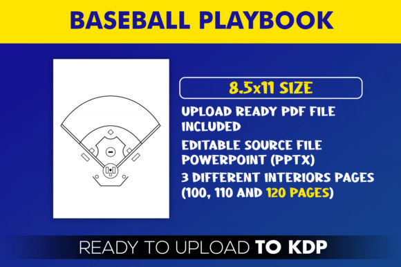 Baseball Playbook KDP Interior Template Graphic Download