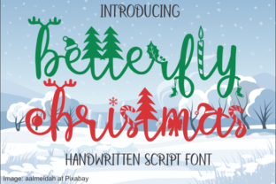 Print on Demand: Betterfly Christmas Decorative Font By Jaime Rangel Castro