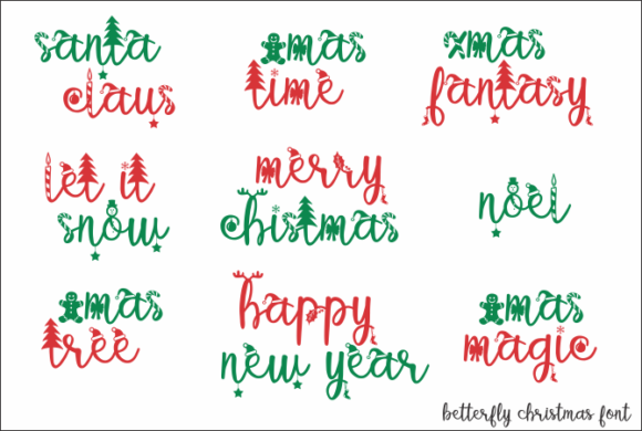 Betterfly Christmas Font Design