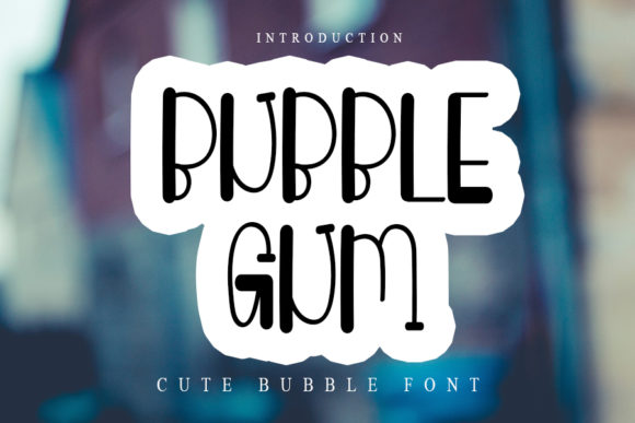 Print on Demand: Bubble Gum Display Font By NYA Letter