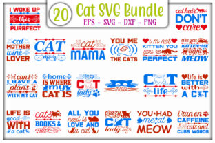 Print on Demand: Cat SVG Design Bundle Graphic Print Templates By GraphicsBooth