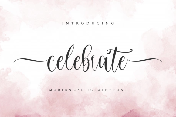 Print on Demand: Celebrate Script & Handwritten Font By mfikryalif