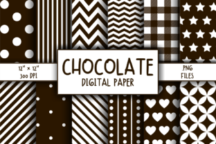 Print on Demand: Chocolate Pattern Digital Paper Graphic Patterns By atlasart