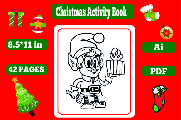 Print on Demand: Christmas Activity Book for Kids-kdp Gráfico KDP Interiors Por KDP_Interior_101