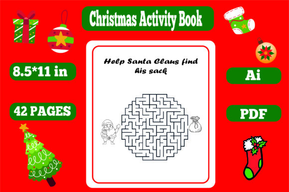 Christmas Activity Book for Kids-kdp Graphic Download