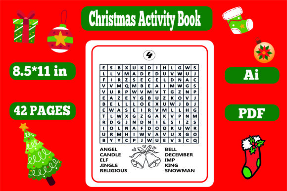 Christmas Activity Book for Kids-kdp Graphic Item