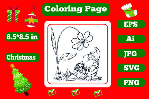 Print on Demand: Christmas Coloring Page for Kids 1 Graphic Coloring Pages & Books Kids By KDP_Interior_101
