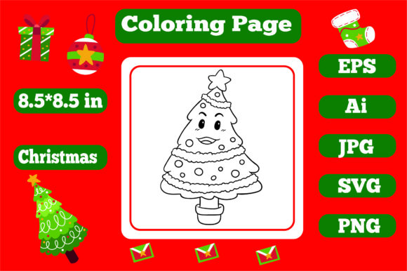 Print on Demand: Christmas Coloring Page for Kids 3 Graphic Coloring Pages & Books Kids By KDP_Interior_101