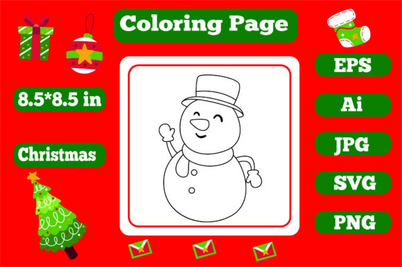 Print on Demand: Christmas Coloring Page for Kids 6 Graphic Coloring Pages & Books Kids By KDP_Interior_101