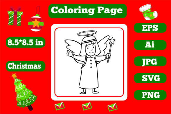 Print on Demand: Christmas Coloring Page for Kids 7 Graphic Coloring Pages & Books Kids By KDP_Interior_101