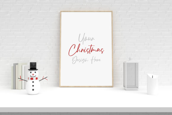 Christmas Frame Mockup with Decorations Graphic Product Mockups By Avadesing