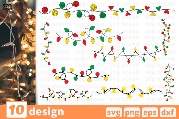 Christmas Lights SVG Bundle Graphic Crafts By SvgOcean