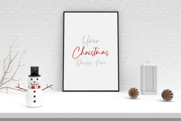Christmas Mockup, Poster, Frame Mock Up Graphic Product Mockups By Avadesing