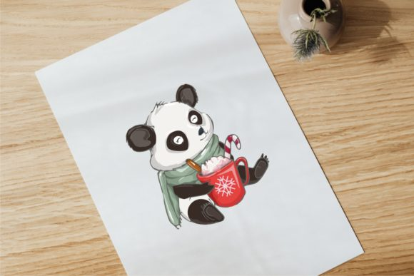 Christmas Winter Snow with Cute Panda Graphic Illustrations By onoborgol