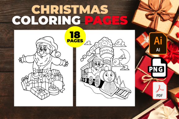 Christmas Coloring Pages for Kids Graphic
