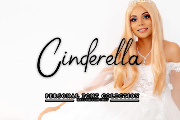 Print on Demand: Cinderella Script & Handwritten Font By giatstudios