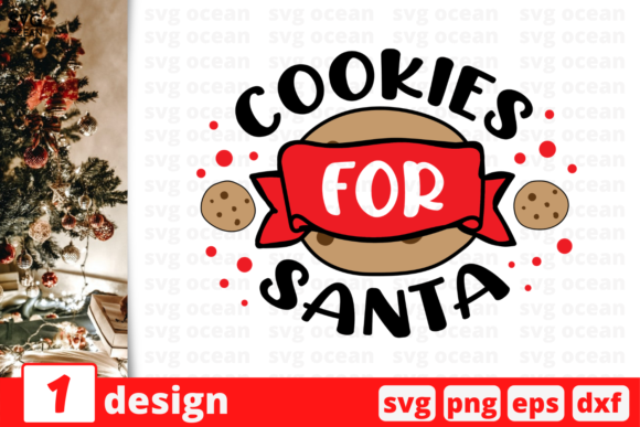 Cookies for Santa Graphic Crafts By SvgOcean