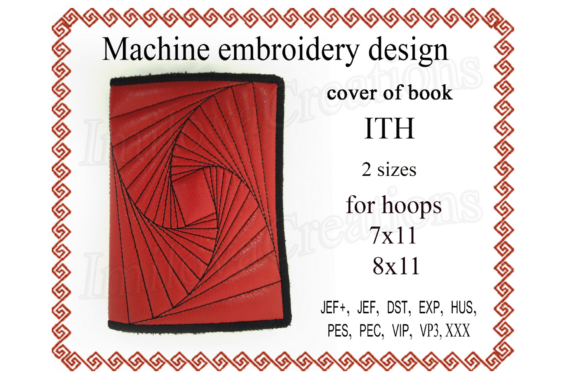 Cover for Book - in the Hoop Sewing & Crafts Embroidery Design By ImilovaCreations