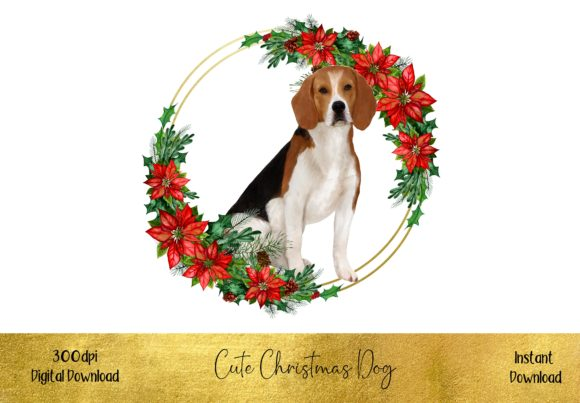 Cute Christmas Beagle Graphic Illustrations By STBB