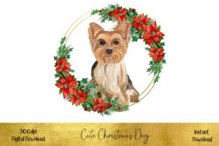 Cute Christmas Yorkshire Terrier Graphic Illustrations By STBB