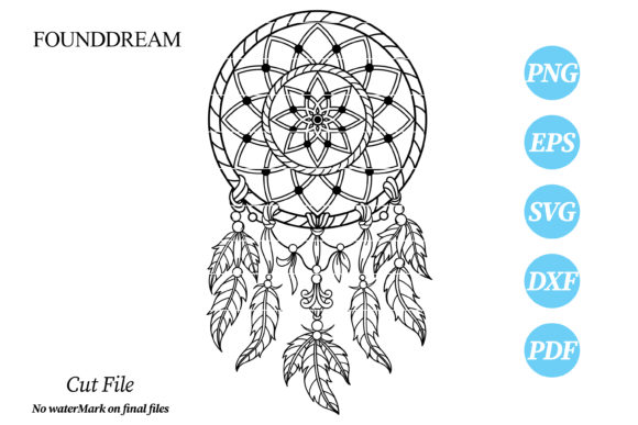 Print on Demand: Dream Catcher Svg Cut File Graphic Crafts By FounDream