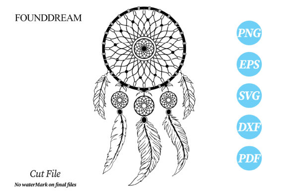 Print on Demand: DreamCatcher Cut File Graphic Crafts By FounDream
