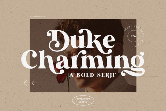 Print on Demand: Duke Charming Serif Font By letterhend