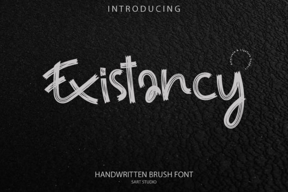 Print on Demand: Existancy Display Font By sartstudio