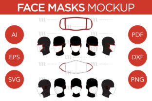 Face Masks - Vector Mockup Template Graphic Product Mockups By markanthonymedia 1