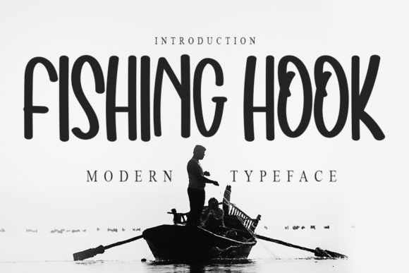 Print on Demand: Fishing Hook Script & Handwritten Font By NYA Letter