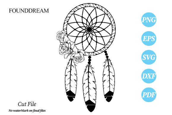 Print on Demand: Floral DreamCatcher Svg Cut File Graphic Crafts By FounDream
