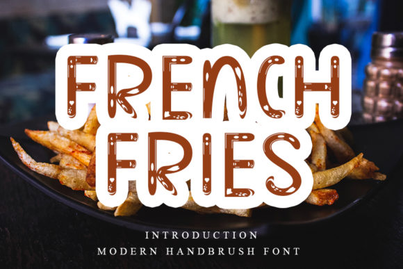 Print on Demand: French Fries Display Font By NYA Letter