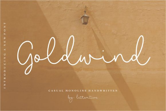 Print on Demand: Goldwind Script & Handwritten Font By letterativestudio
