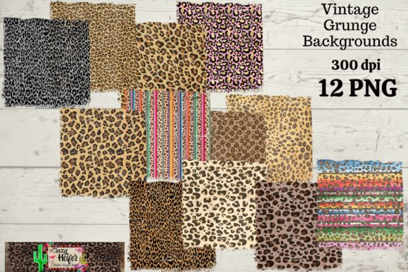 Print on Demand: Grunge Leopard Background Texture PNG Graphic Backgrounds By Crazy Heifer Design Shoppe