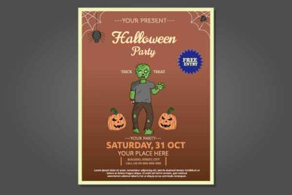 Halloween Flyer Template Design Graphic Print Templates By abelhartama