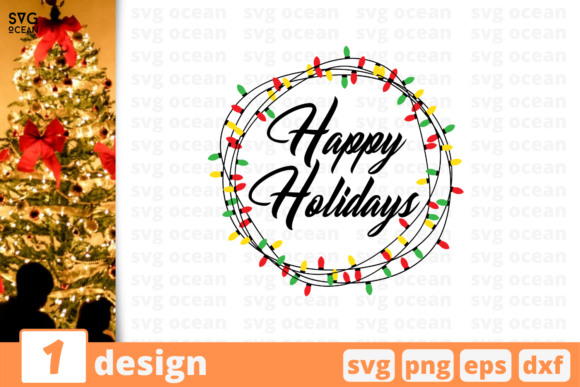 Happy Holidays Graphic Crafts By SvgOcean