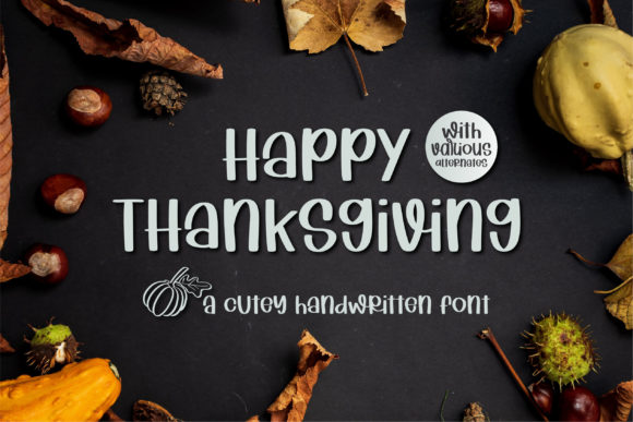 Happy Thanksgiving Font