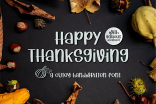 Print on Demand: Happy Thanksgiving Script & Handwritten Font By BitongType