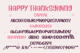 Print on Demand: Happy Thanksgiving Script & Handwritten Font By BitongType 2