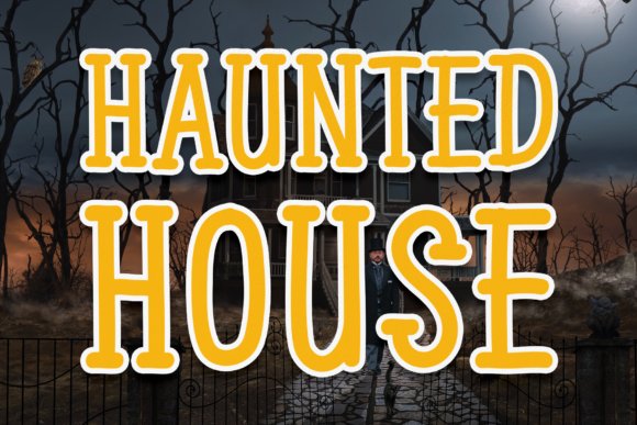 Print on Demand: Haunted House Display Font By andikastudio